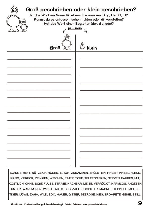 Arbeitsblatt Nomen Begleiter : Kostenlose arbeitsblätter für die grundschule