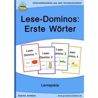 Lesedominos: erste Wörter lesen