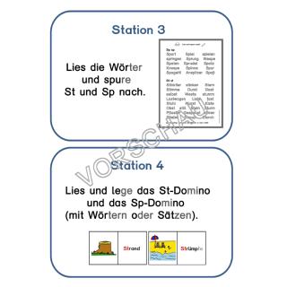 st und sp stationen zu den buchstabenverbindungen