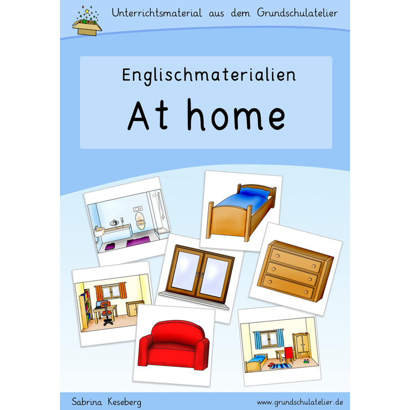 Englischmaterial-at home-rooms-furniture-Arbeitsblatt-Bildkarten-Lern