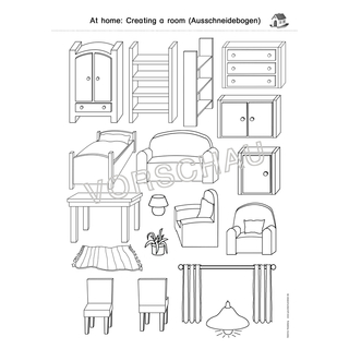 At home: rooms and furniture (Räume, Möbel)