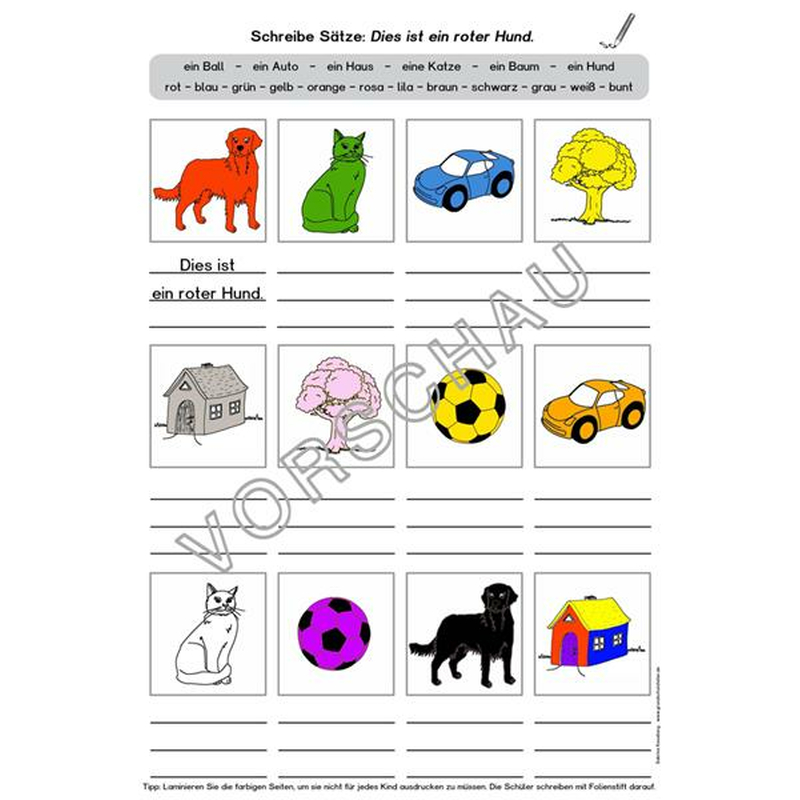 Arbeitsblatt Englisch Zahlen Und Farben : Unterrichtsmaterial für daf daz zum thema quot zahlen farben