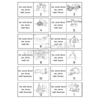 Kalender-Werkstatt für die Grundschule: Jahr, Monat, Woche, Tag