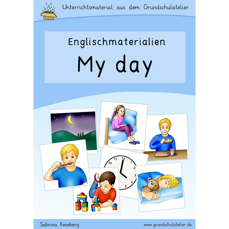 englischmaterialien my day time