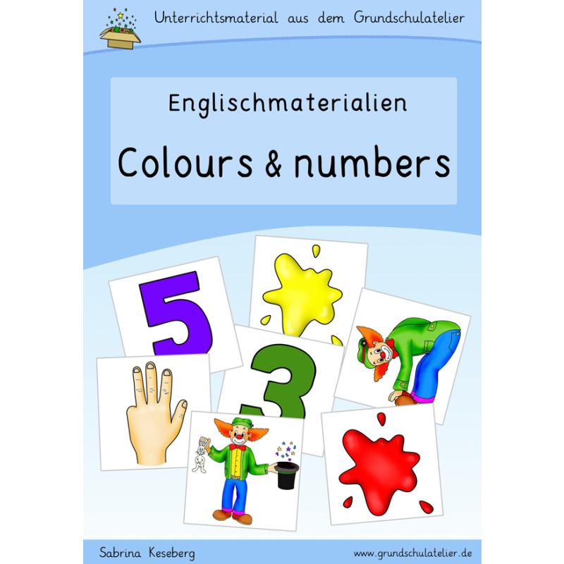 Englischmaterial-colours-numbers-Zahlen-Farben-Arbeitsblatt-Bildkarte