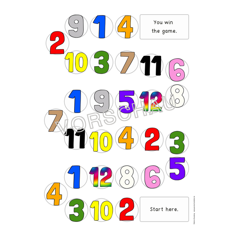 Arbeitsblätter Numbers Colours : Englischmaterialien colours and numbers