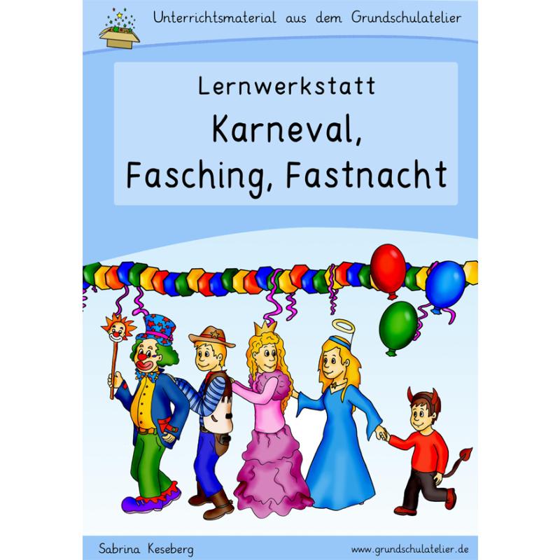 Karneval Fasching Fastnacht Material Arbeitsblatt Grundschule