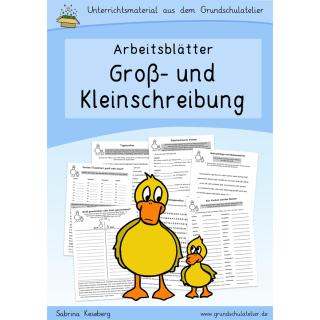 Groß- und Kleinschreibung (Arbeitsblätter)
