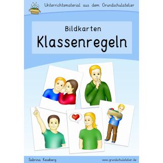 Klassenregeln grundschule bildkarten  Bildkarten: Klassenregeln, Unterrichtsstörungen vermeiden