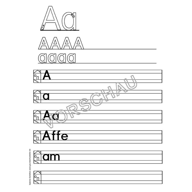 Arbeitsblätter Englisch Abc : Abc werkstatt arbeitsblätter zur buchstabeneinführung
